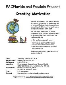 Creating Motivation 1.21.15 Flier