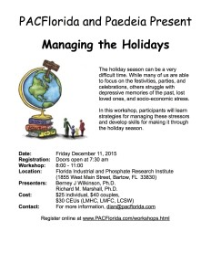 Managing the Holidays Workshop 12.11.15 Flier